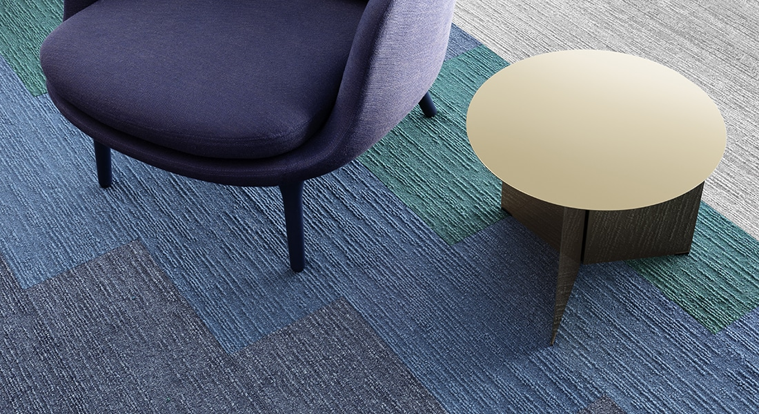 Malmo: Anneli 700 Norse: Jakob 108, Bergen 105 and Tait 102 Oslo Planks Industrial Carpet Tiles by Signature Floors