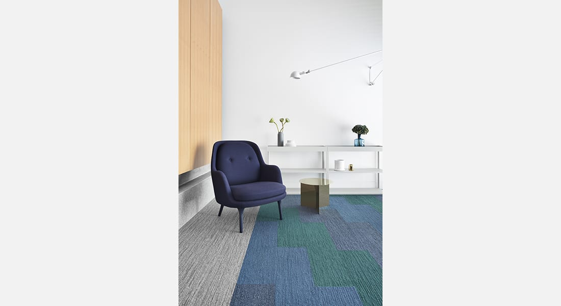 Norse Jakob 108, Bergen 105 and Tait 102, Malmo Anneli 700 - Oslo Planks Industrial Carpet Tiles by Signature Floors