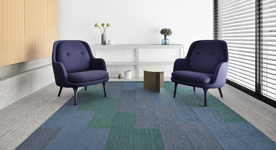 Malmo: Anneli 700, Norse: Jakob 108, Bergen 105 and Tait 102 - Norse Carpet Tiles for Commercial Flooring in Australia by Signature Floors