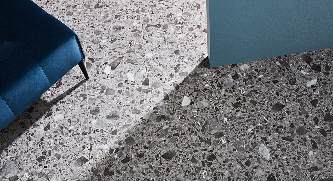 88Planks_Room11 - Grey Granite-look Vinyl Tiles - 88 Planks - Vinyl Planks & Tiles by Signature Flooring | Vinyl Plank Flooring | wood planks or stone tiles in form of vinyl tiles, planks or vinyl sheet | Buy Signature vinyl floorboards to design unique commercial vinyl flooring