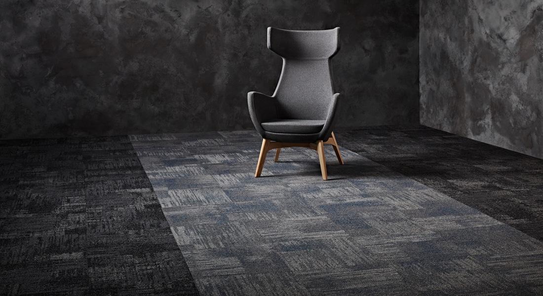 Carpet Tile Collection Raw Elements Bedrock_Basalt_2-000-000CB_Gemstone_Shale_Sodalite_3-129-130CB