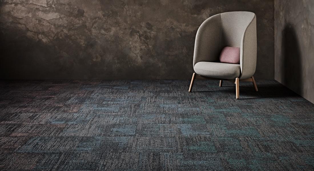 Carpet Tile Collection Raw Elements Gemstone_Shale_Ametrine_3-133-134CB_Gemstone_Shale_Celestite_3-104-093CB_Gemstone_Shale_Angelite_3-131-132CB
