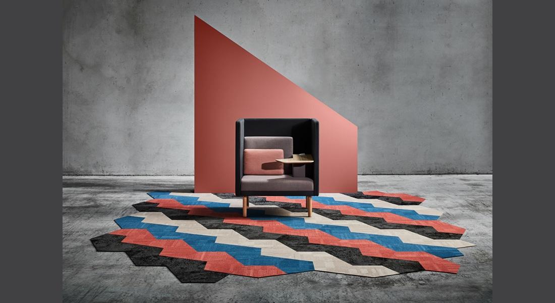 VIVID202 Carpet Tiles BASE40000PE Terrain, VIVID177-E52PE Cookie Dough, VIVID168-C44PE Havana Rum,VIVID040-D24PE Frost Bite