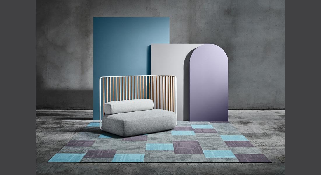 VIVID202 Carpet Tiles STATIC 9800 Fragment, VIVID131-C23 Arctic Winds, VIVID070-B36 Twilight Zone