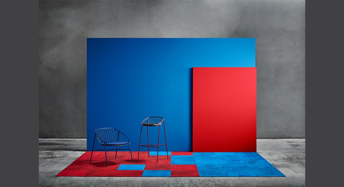 VIVID202 Carpet Tiles Static 3589, Static 0149, VIVID035-A42, VIVID004-E25 Blue Dude