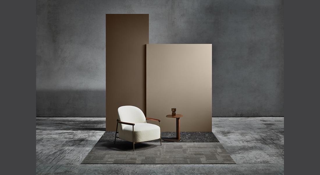 VIVID202 Carpet Tiles Terrazzo Stone Positano, VIVID078-F55 Rum n Raisin